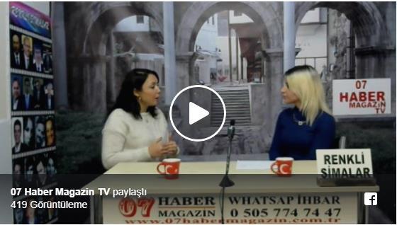Uzm.Dr. Senem Turan  07 Haber TV'de Canlı Yayında