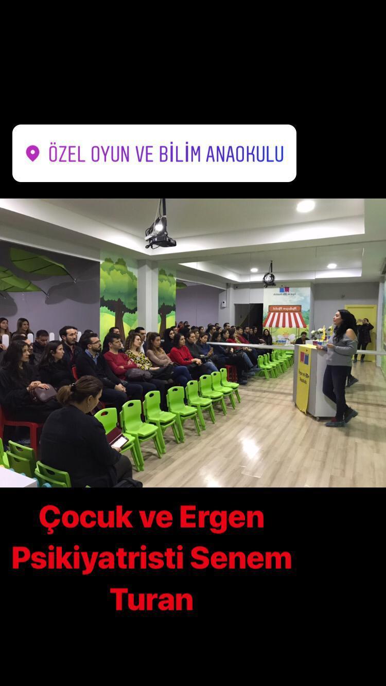 Uzm.Dr. Senem TURAN – Özel Oyun Ve Bilim Anaokulun'da -Aralık 2018